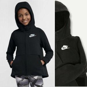 Nike High Neck Black Full Zip Swoosh Hoodie XL